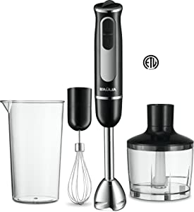 Baulia HB802 500 Watt All-in-One Immersion Powerful Hand Blender Set Black