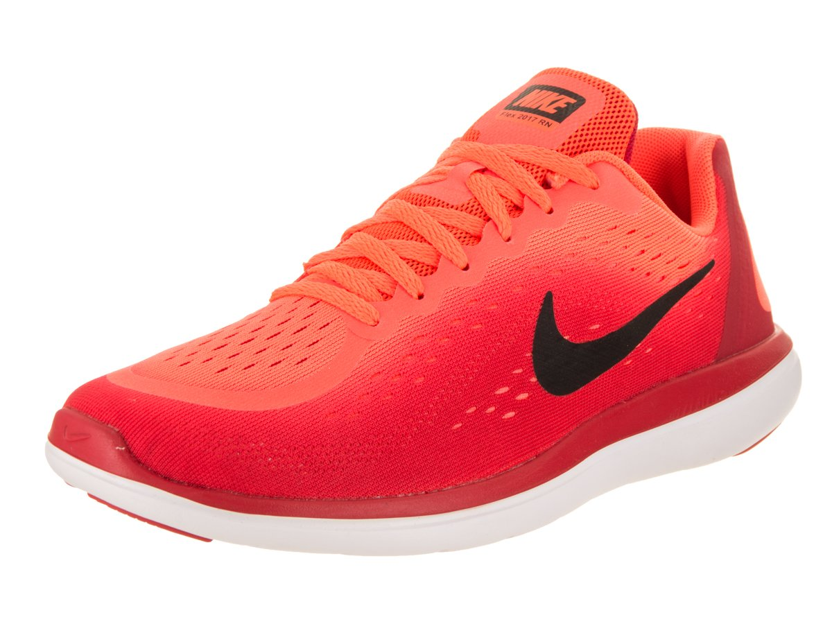 ee142f7e6215 Galleon - Nike Boy s Flex RN 2017 (GS) Running Shoe Hyper Orange Black University  Red White Size 5 M US