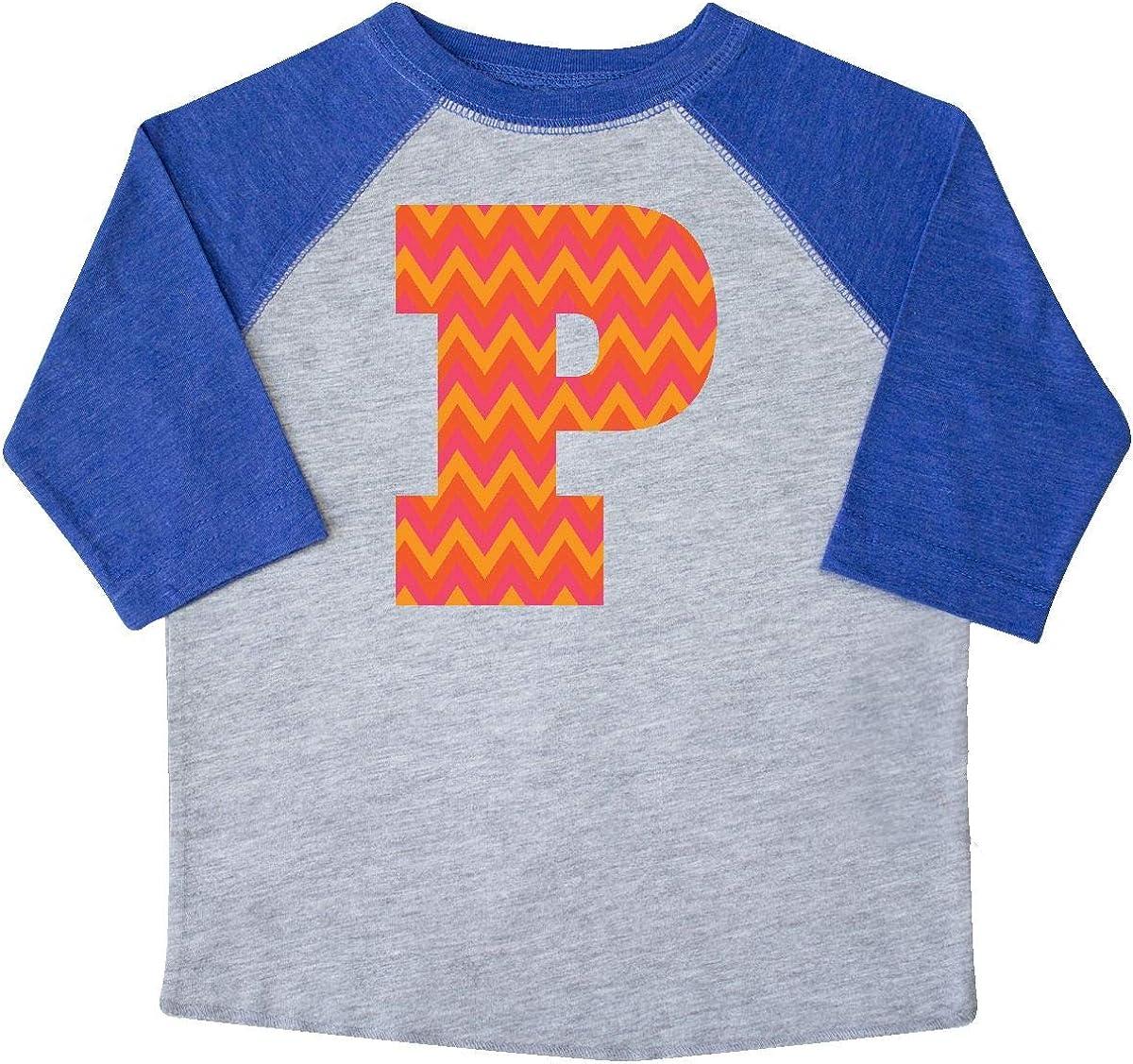 inktastic P Monogram Chevron Letter Initial Toddler T-Shirt
