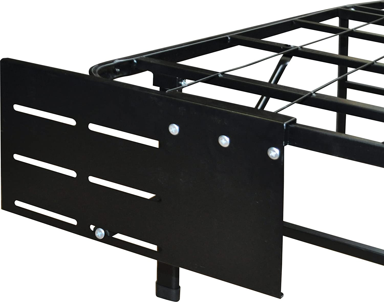 Boyd Sleep Raised Platform Bed Frame Accessory: Universal Headboard/Footboard Brackets, Black, Set of 2
