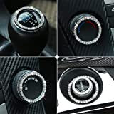 9 MOON 8 Pack Car Accessories for Women - Car Accessories Crystal Rhinestone Car Bling Ring Emblem Sticker Bling Automotive Accessories Interior Car Decor