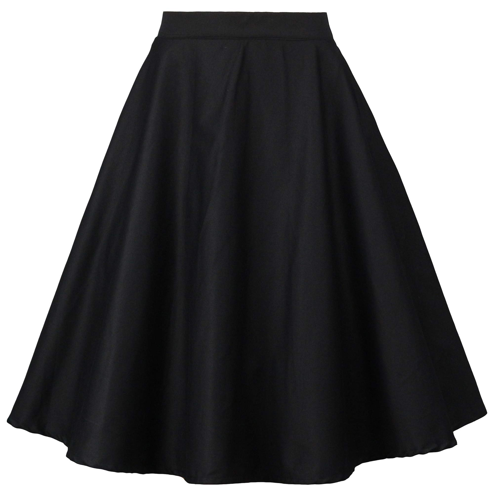 Tailloday 1950's Vintage Full Circle Pleated Floral A Line Midi Skirt
