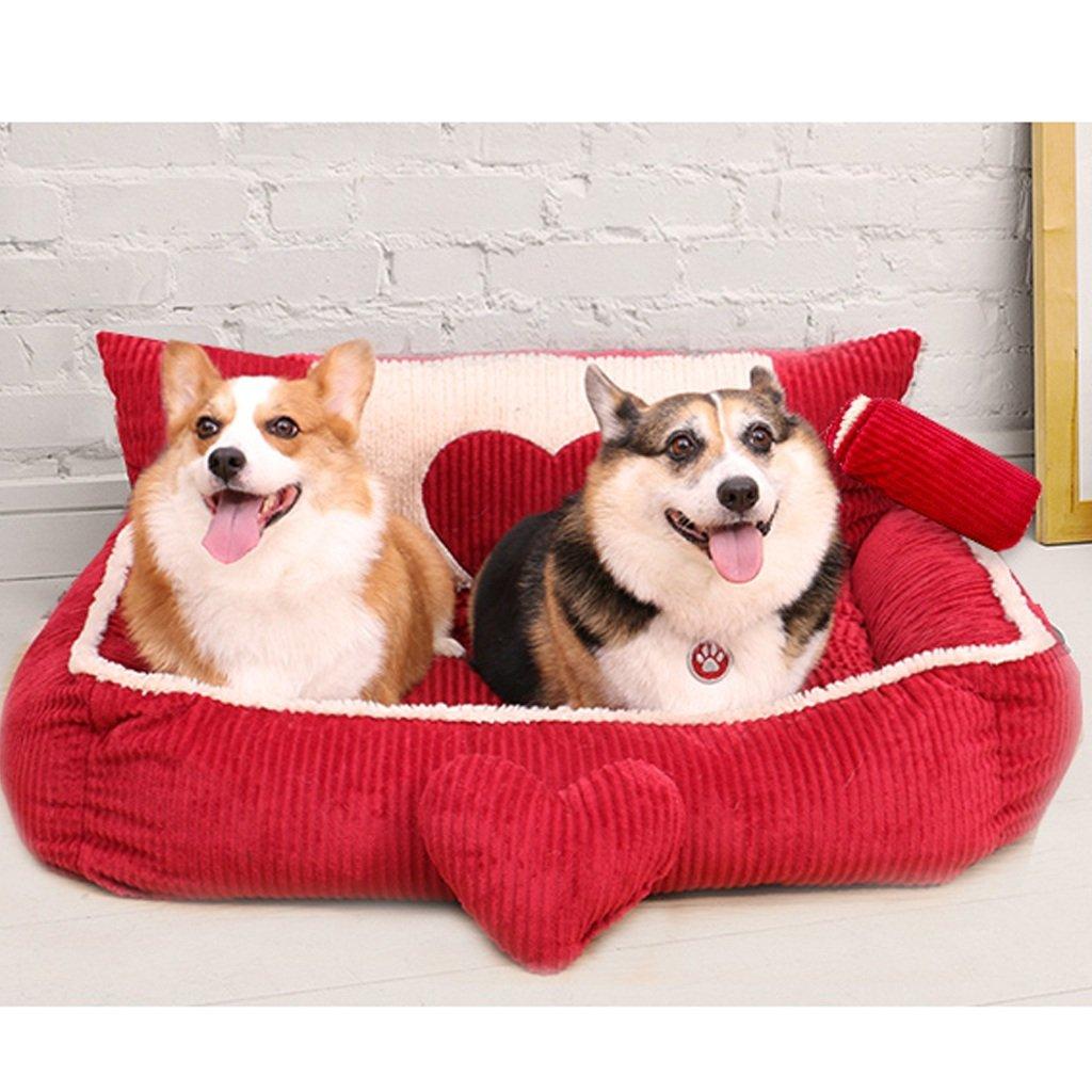 Casas para Perros Interiores Cama Rectangular para Perro - Perrera - Cama para Mascota (Grande) perreras: Amazon.es: Productos para mascotas