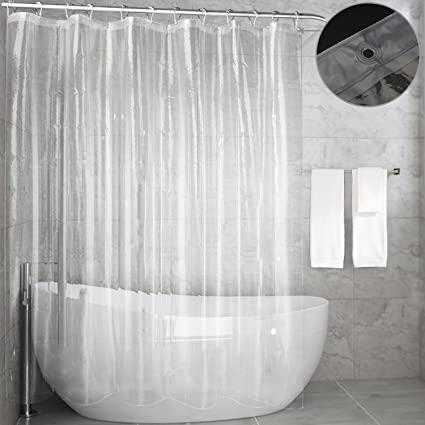 Clear Shower Curtain LinerFeagar MoldMildew Resistant Waterproof Anti Bacterial 72x72 Inch Eco