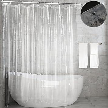 Shower Curtain Liner,Feagar Moldu0026Mildew Resistant Waterproof Anti Bacterial  72x72 Inch Eco Friendly