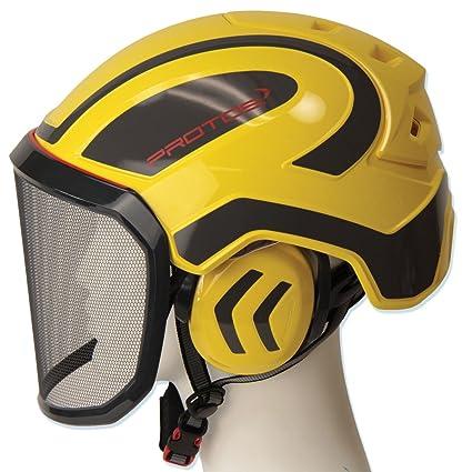 Amazon.com: Pfanner Protos - Casco, color amarillo y gris ...