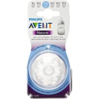 Philips Avent SCF652/23 Natural Nipple, Slow flow, 1m+, 2 Piece