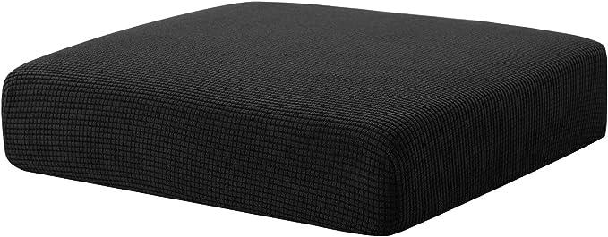 Hokway Sofa Cushion Slipcovers Stretch Spandex Cushion Protector Slipcovers (Black, Chair Cushion)