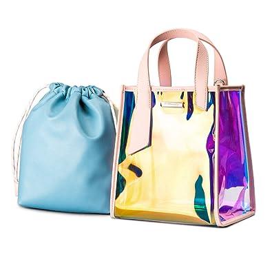 Amazon.com  Casual Shiny Holographic Handbag Laser Tote Bag Hologram  Rainbow Bag  Shoes d20998d8e42b9