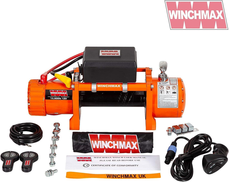 Winchmax Cabrestante eléctrico original naranja de 12 V, sin ...
