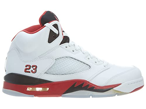 sports shoes fc6eb 4f093 Jordan Mens 5 Retro White Red Black 136027-120 7