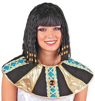 Perruque de Cléopâtre avec robe égyptienne