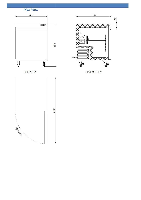 NEW XILTEK 27/″ ONE STAINLESS STEEL DOOR COMMERCIAL UNDERCOUNTER REFRIGERATOR