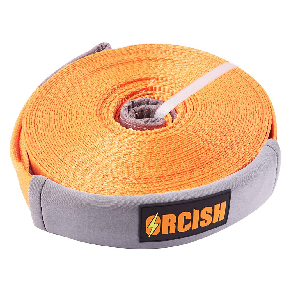ORCISH 66ft X 2In Tree Saver Recovery Tow Strap Winch Strap17600lb Capacity by ORCISH