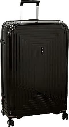 Samsonite Aspero Hard Side Spinner Luggage, Metallic Black, 81 Centimeters