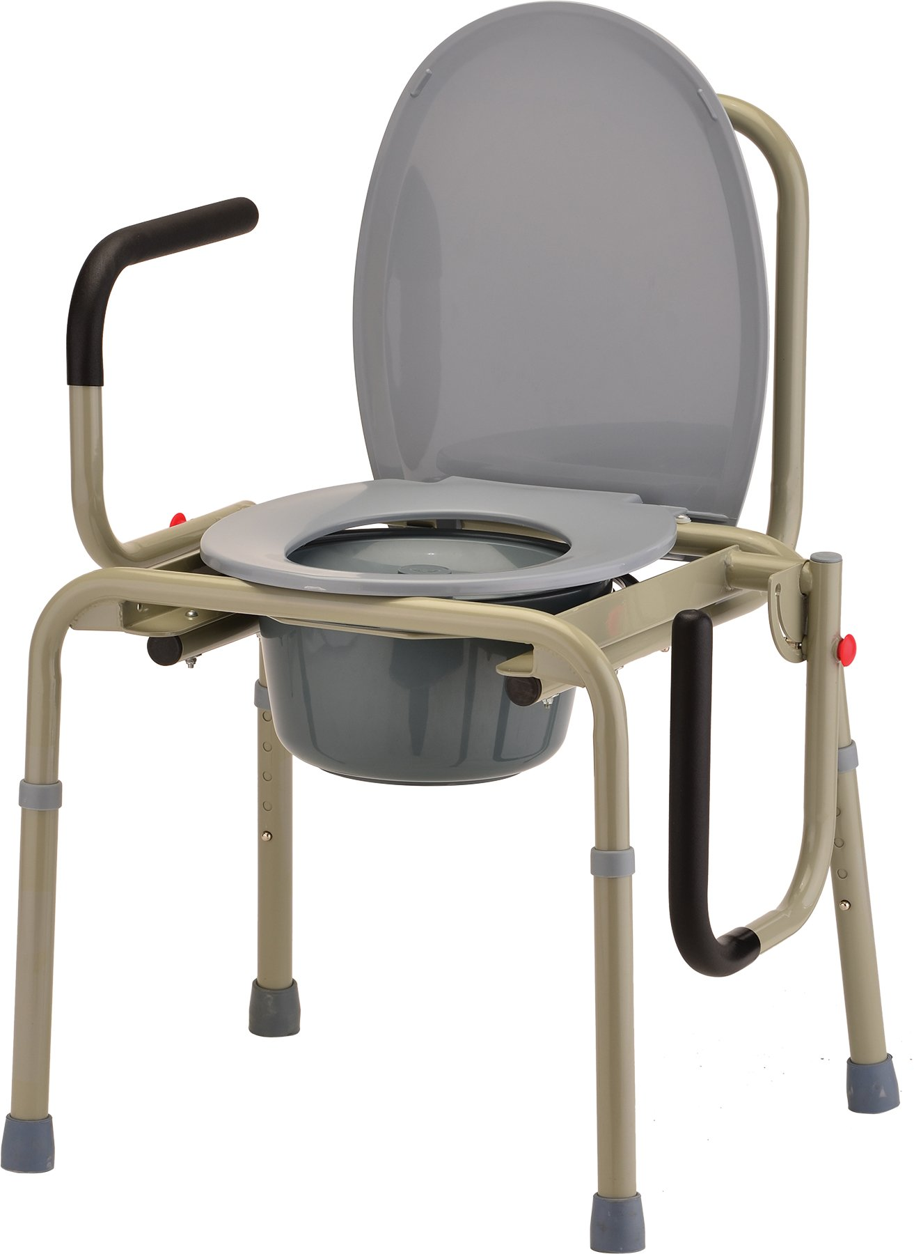 NOVA Medical Products Drop Arm Commode, Gray, 20.5 Pound