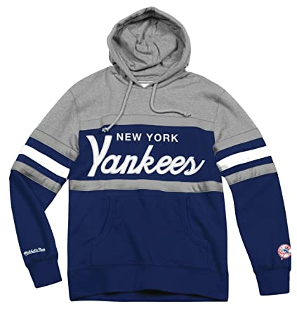 195007b7d Image Unavailable. Image not available for. Color  New York Yankees Mitchell    Ness MLB  quot Head Coach quot  Pullover Hooded Sweatshirt