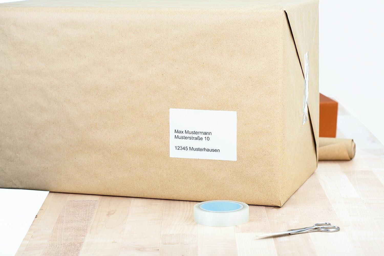 selbstklebend bedruckbar 100 Klebeetiketten 99,1 x 139 mm 25 Blatt Premium DIN A4 Papier matt Herma 4503 Adressetiketten wei/ß