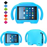 Fire HD 8 Kids Case- TIRIN Light Weight Shock Proof Handle Kid –Proof Cover Kids Case for Amazon Fire HD 8 Tablet (7th Generation, 2017 Release),Blue