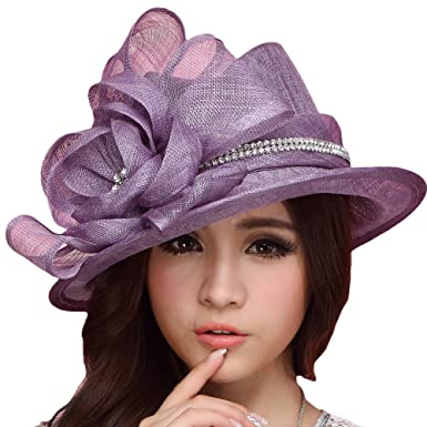 96dfd56c Image Unavailable. Image not available for. Colour: June's Young Women Hats  Ladies Church Hat Cocktail Sun ...