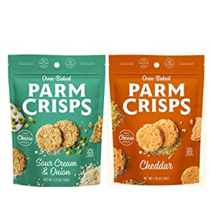 Oven Baked Parm Crisps Cheddar and Parm Crisps Sour Cream & Onion - 1.75 ounce - Variety Pack of 2