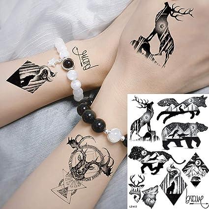 MRKAL Tatuajes Temporales Galaxia Negra Planetas Animales ...