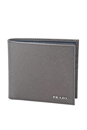 c83c5620739e ... sale prada saffiano cuir leather mens caffe brown and black bi fold  wallet 7a88d 8e0d3