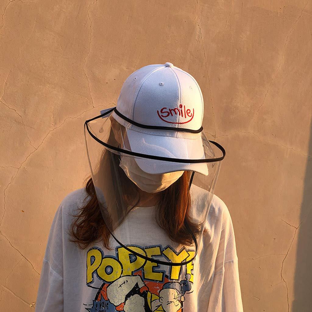 Protective Cap Peaked Cap Hat Safety Face Shield Anti Drool Splash-Proof Outdoor Adjustable Fisherman Hat Goosuny Sombrero Protector Anti-Escupir