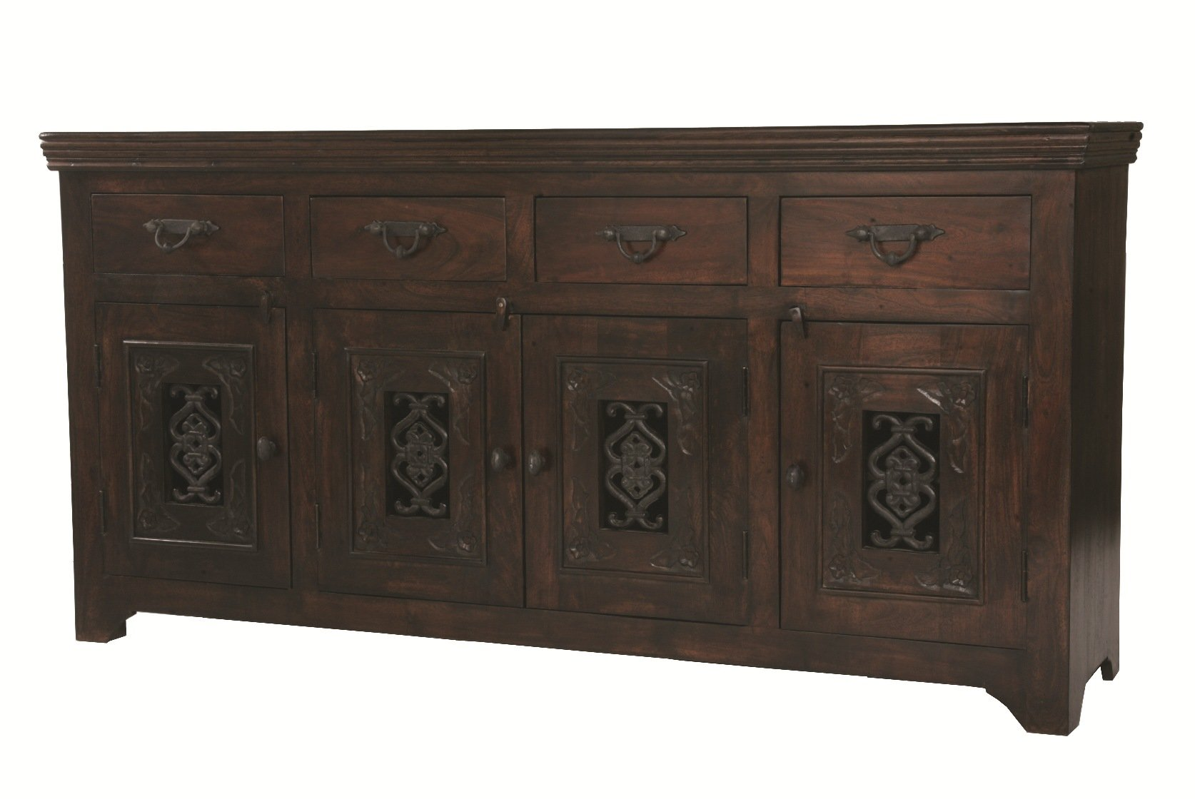 Moti Furniture Old World Design Durango Buffet with 4-Drawer and 4-Door