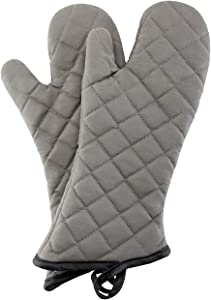 ARCLIBER Oven Mitts 1 Pair of Quilted Cotton Lining - Heat Resistant Kitchen Gloves,Flame Oven Mitt Set,15 Inch