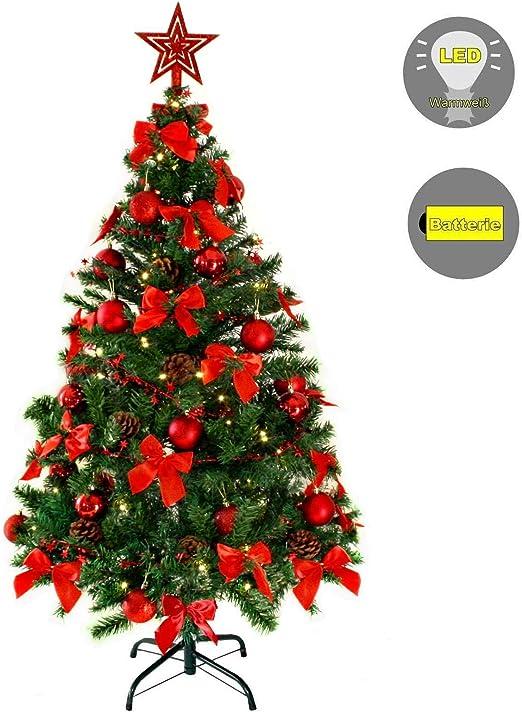 Mini Weihnachtsbaum Tannenbaum Christbaum 20 cm rot geschmückt