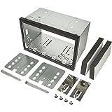 tomzz Audio 2400-009 2DIN Doppel ISO DIN Metal Rahmen Einbauschacht Radioblende Einbausatz Einbaurahmen