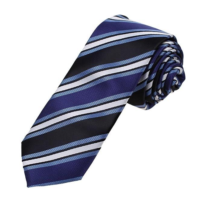 DAN SMITH - Corbata - Rayas - para hombre Azul DAE7A10F-Dark Blue ...