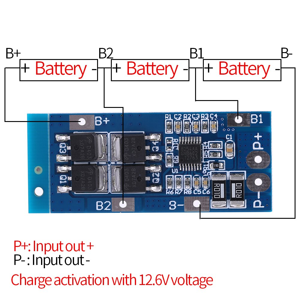 Pcb Protection Board 3 Series 111v Li Ion Lithium 18650 Battery Wiring Diagram Cell Bms Industrial Scientific