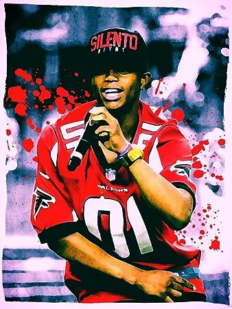 amazon com silento painting retro vintage art hip hop rap music