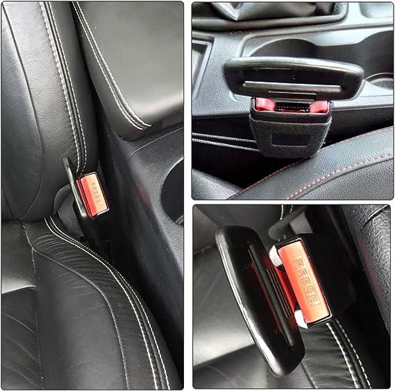 Boonor 2x Anti Gurtwarner Sicherheitsgurt Gurtstecker Gurtalarm Gurtschloss Gurtalarm Stopper Von Passend Universal Für Die Meisten Des Autos Auto
