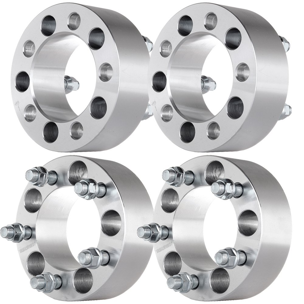 ECCPP 5x4.5 Wheel Spacers 5 Lug 4X 2 inch 5x4.5 to 5x4.5|5x114.3 to 5x114.3 fits for Jeep Liberty Wrangler Cherokee Grand Cherokee with Thread Pitch 1/2''