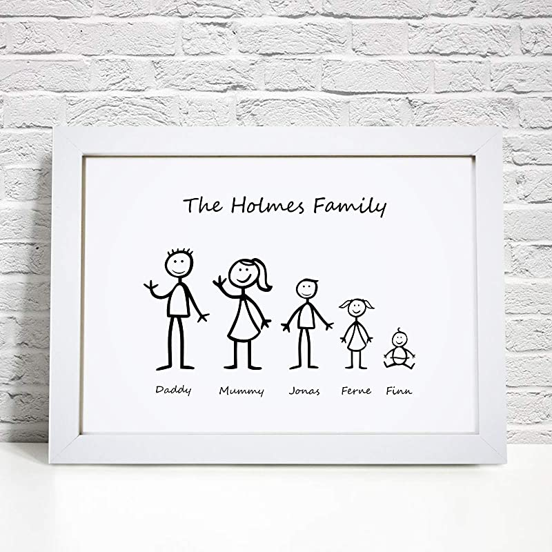 Personalised Family Print family stick print