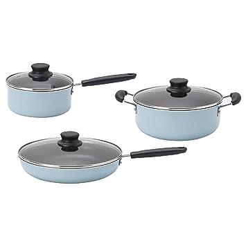 IKEA 903.332.12 - Juego de 6 utensilios de cocina, color turquesa ...