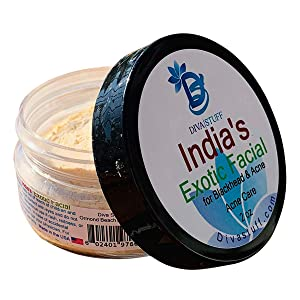 Diva Stuff India's Exotic Turmeric Facial Scrub for Blackheads and Acne, 2 oz (Made in the USA)