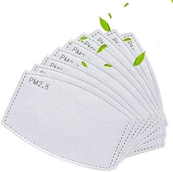 Oferta amazon: [48 unidades] PM2.5 Filtros de carbón activado 5 capas reemplazables de papel de filtro antiniebla anti niebla papel para adultos