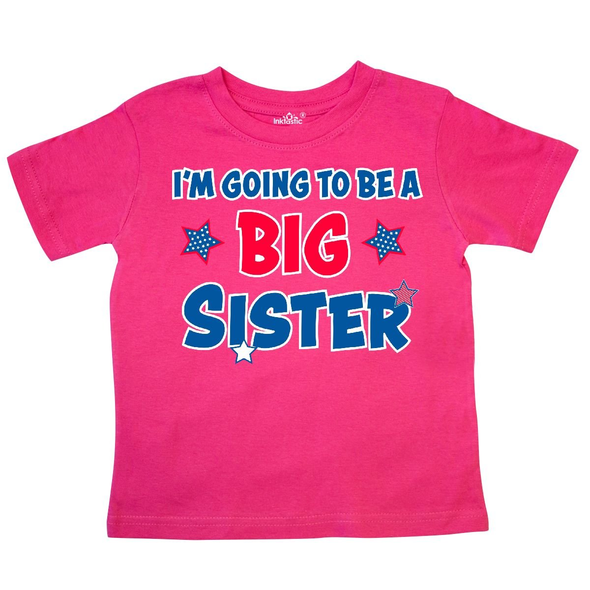 inktastic July 4th Im Going to Be a Big Sister Toddler T-Shirt