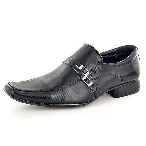 para Hombre Negro con Italiana de Vestir Casual Zapatos de Hebilla de decoración, Color Negro, Talla 42: Amazon.es: Zapatos y complementos