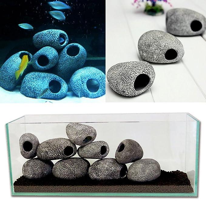 Tutoy Acuario cíclidos Piedras cerámica Roca Cueva Ornamento cíclidos Piedras Peces Tanque cíclidos Piedras decorati: Amazon.es: Hogar