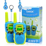 EMISK Toys for 3-12 Years Boys Girls, Walkie Talkies for Kids 22 Channels 2 Way Radios with Flashlight, Teen Boy Girl Birthday Gifts Kids Walkie Talkies for Outdoor Adventures, Camping - 2 Pack