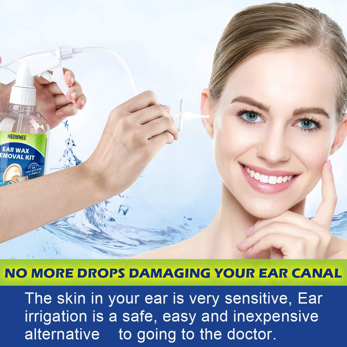 MEOWMERE Ohrenschmalz Entfernungsset Ohrenreiniger Ohrenspritzen Sp/ülsystem Ohrenschmalz Reinigungspumpen-Reinigungsset f/ür Erwachsene und Kinder Ohrenschmalz Entferner