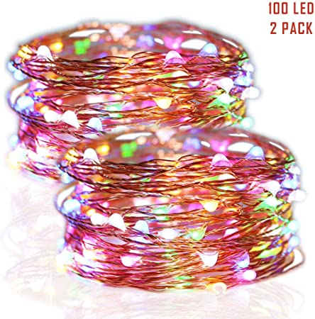 Led Stars Copper Wire Lights Christmas Wreaths Wedding Decor Twinkle Lights