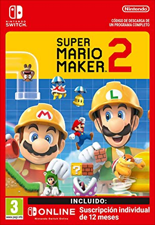 Super Mario Maker 2 + 12 Meses Switch Online Limited Edition ...