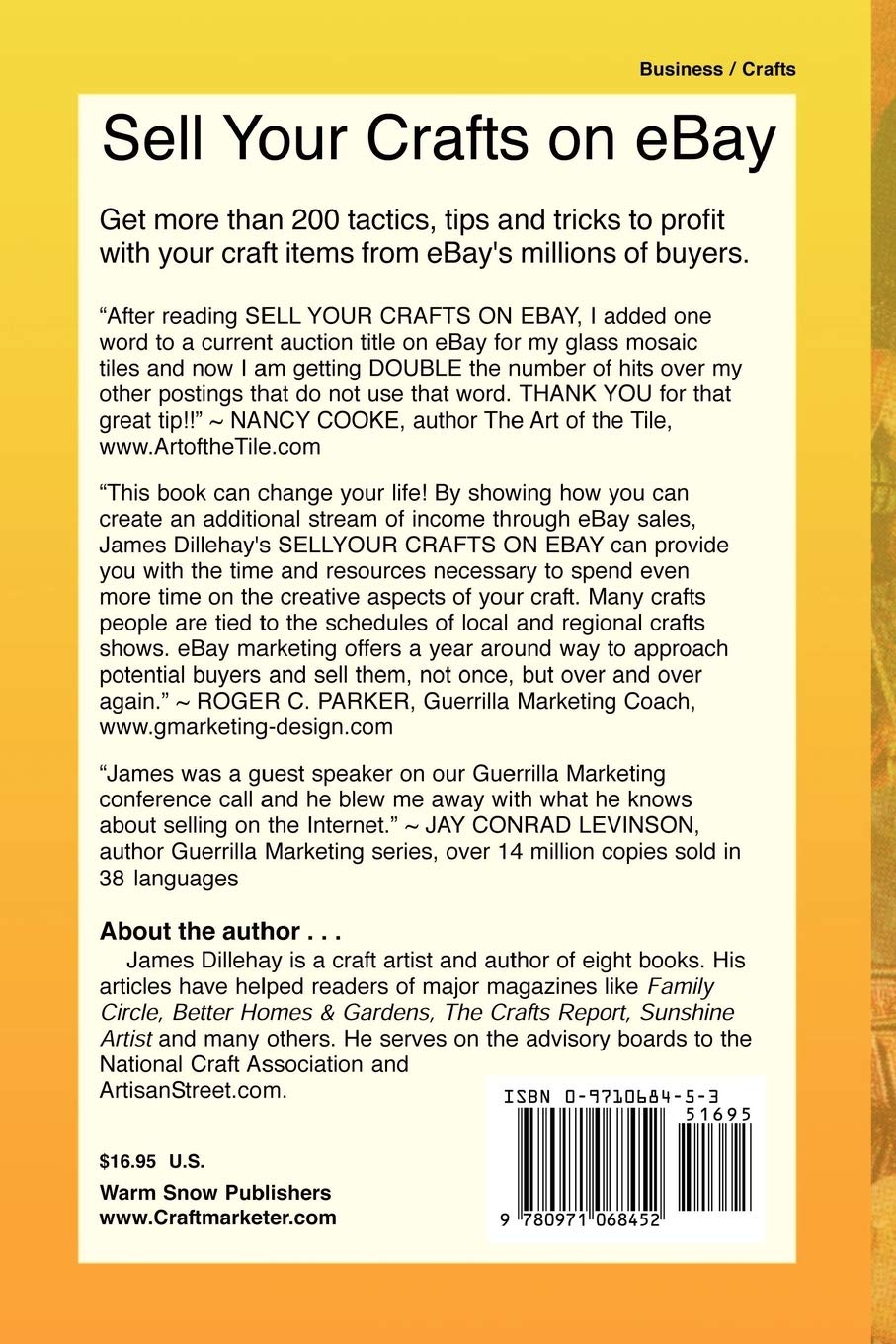 Sell Your Crafts On Ebay Dillehay James 9780971068452 Amazon Com Books