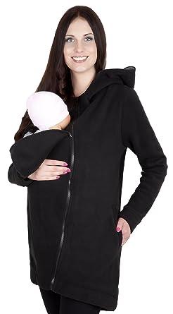 Mija - 3in1 Tragejacke, Umstandsjacke   Fleece Tragepullover für Tragetuch  für Babytrage 7125 (S 28f9fe56bb4